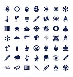 49 warm icons vector