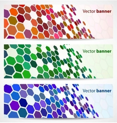 Abstract digital banners vector