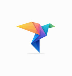 Abstract paper pigeon concept design vector