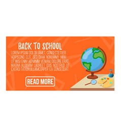 back to school banner icon and logo isolated vector image