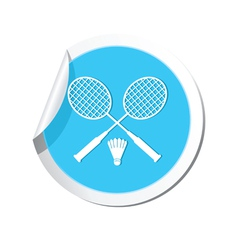 badminton BLUE LABEL vector image