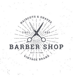 Barber shop scissors vector