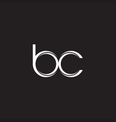 bc initial letter split lowercase logo modern vector image