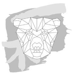 Bear head triangular icon geometric trendy vector image