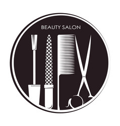 beauty salon and manicure design vector image