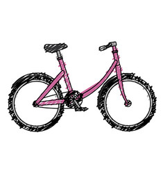 Bicycle retro isolated icon vector
