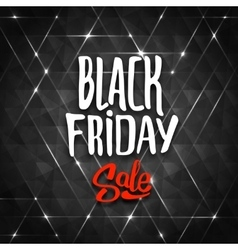 Black Friday sale background with triangles vector image
