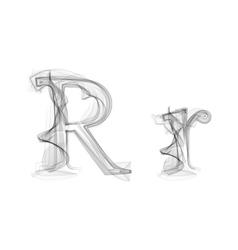 Black Smoke font Letter R vector image
