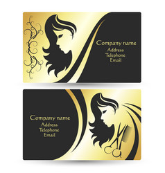Hair salon business card vector images over 320 business card for beauty salon vector reheart Choice Image