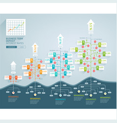 business tree timeline infographics vector image