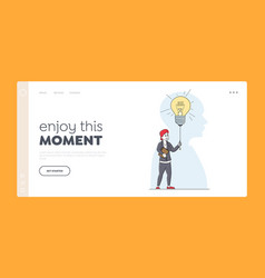 Business vision educational insight landing page vector