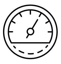 car fuel odometer icon outline style vector image