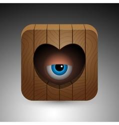 Cartoon eye icon vector image
