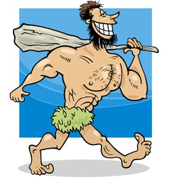 Caveman cartoon vector