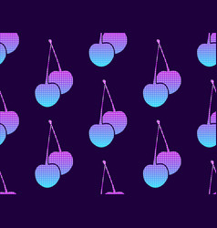 cherries with a gradient and dots in the style of vector image