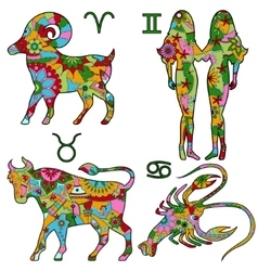 Colofrul horoscope vector image
