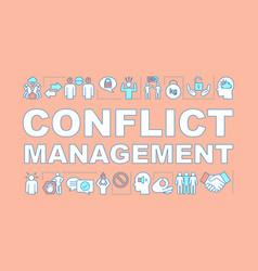 Conflict management word concept banner vector