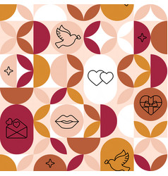 crafted seamless geometric patterns vector image