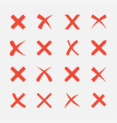 Cross icon set vector