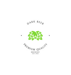 dark beer logo template vector image