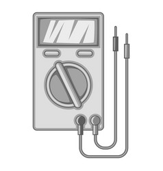 Digital multimeter icon monochrome vector