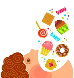 Eating sweets vector