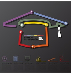 Education And Graduation Connection Timeline vector image
