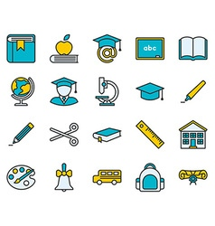Education Colored Icon vector image