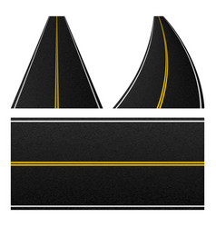 Element road stripe set marking highway vector