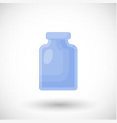 empty glass jar flat icon vector image