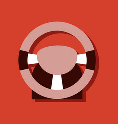 Flat icon design collection steering wheel in vector