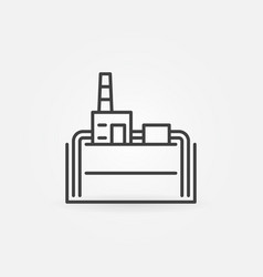 geothermal power plant line icon vector image
