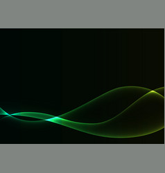Green flame curve layer abstract background vector