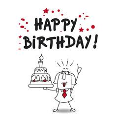 Happy birthday darling vector