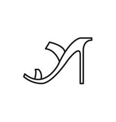 high heels woman shoe thin line icon design vector image