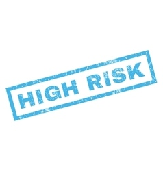 High Risk Rubber Stamp vector