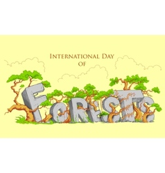 International Day of Forest vector