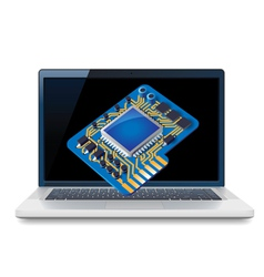 Laptop and circuit vector image