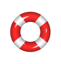 life buoy isolated on a white background vector image