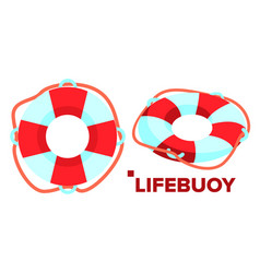 lifebuoy classic summer beach support vector image
