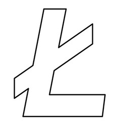 litecoin icon black color flat style simple image vector image