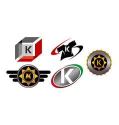 Logotype k modern template set vector