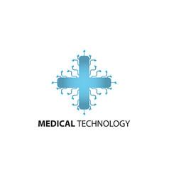 medical technology logo template vector image