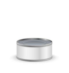 metal tin can vector image