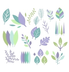 Modern Design Leaf Prints Set vector