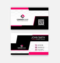 Modern professional business card template vector