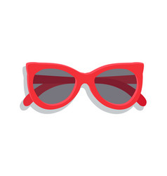 Modern sunglasses with round lenses banner vector