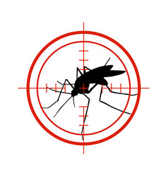 mosquito in red target anti mosquitoes dengue vector image