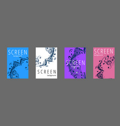 musical banner set with colored key notes vector image