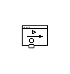 online learning icon vector image